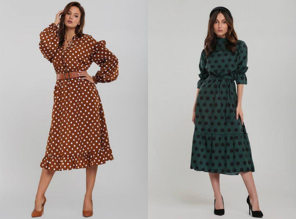 Sukienki w grochy to hit w tym sezonie!