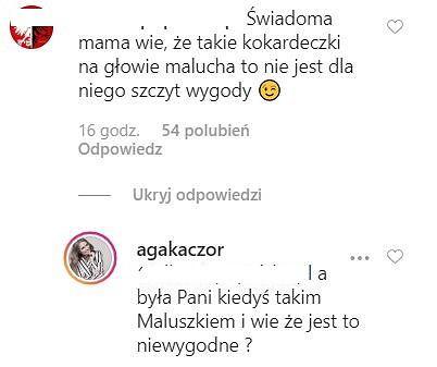 Komentarz na Instagramie Agnieszki Kaczorowskiej