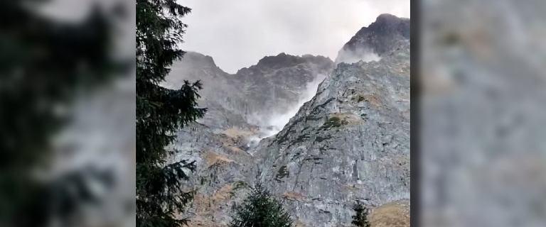 Kamienna lawina nad Morskim Okiem. Głazy wielkości samochodu [FILM]