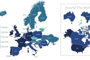 Mapa świątecznego spożycia kalorii. W jakich krajach zjedzą najwięcej?