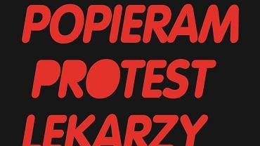 Plakat poparcia dla protestu