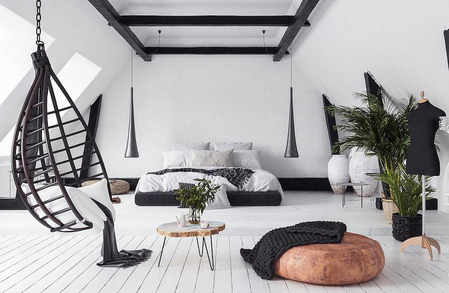 Fotel wiszący stanowi wspaniałe miejsce wypoczynku i relaksu