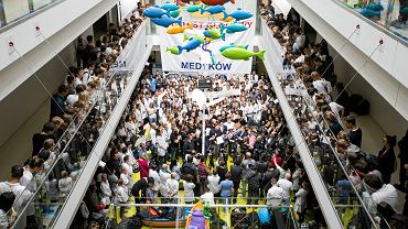 12 października 2017 , Warszawa , Dziecięcy Szpital Kliniczny . Konferencja prasowa podczas protestu lekarzy rezydentów