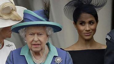 Królowa Elżbieta II i Meghan Markle
