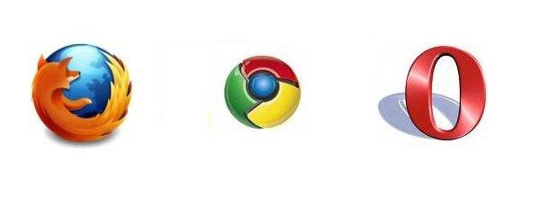 Loga przeglądarek internetowych