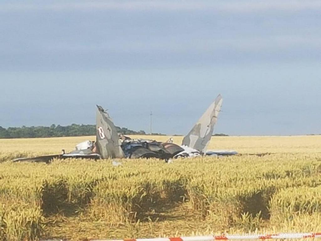 Pasłęk. Katastrofa myśliwca Mig-29