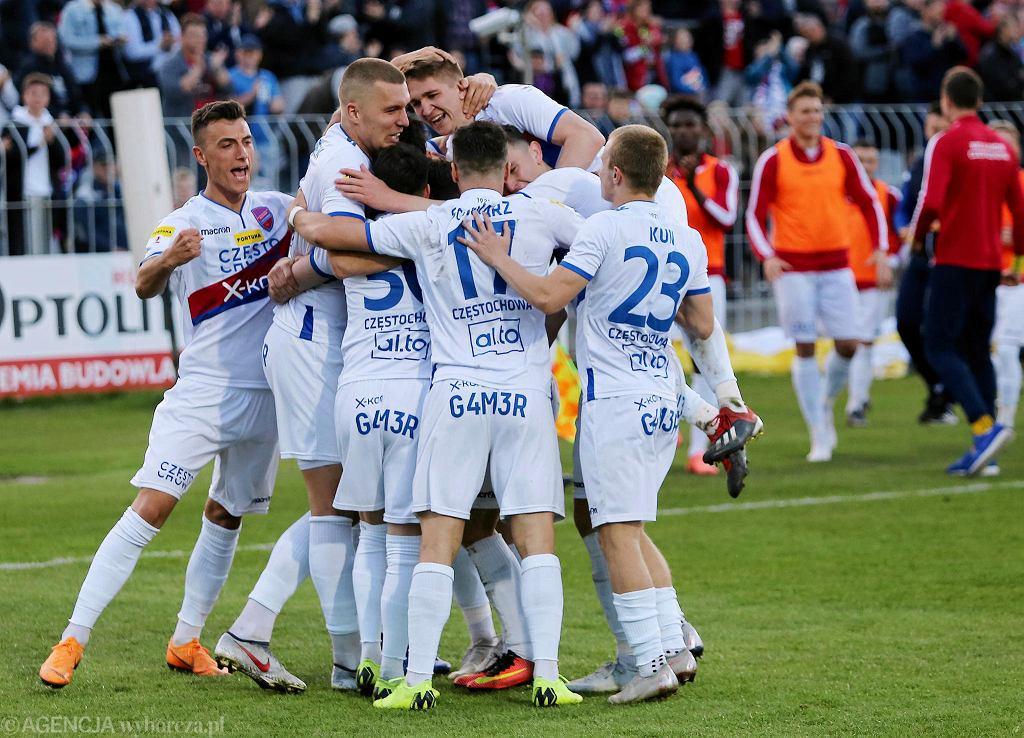 24 kwietnia 2019 r. piłkarze Rakowa Częstochowa zwycięstwem 2:0 nad Podbeskidziem Bielsko-Biała przypieczętowali awans do ekstraklasy