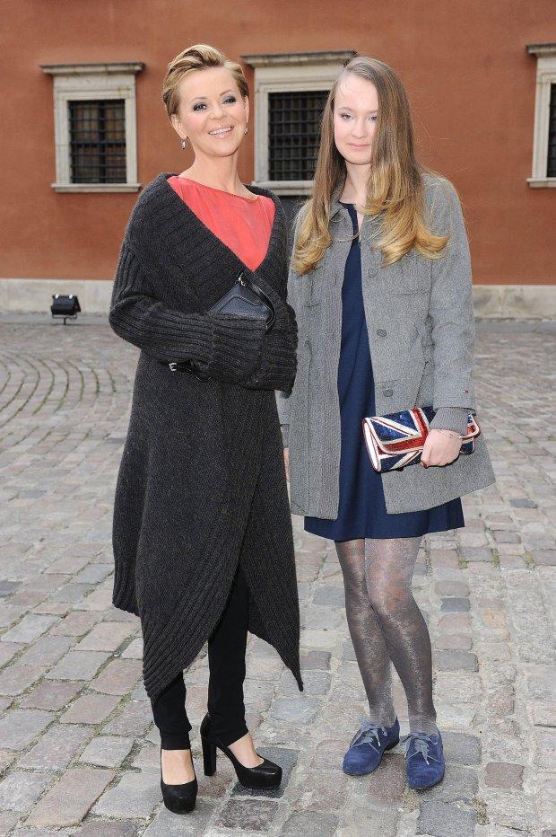 Justyna Pochanke z córką