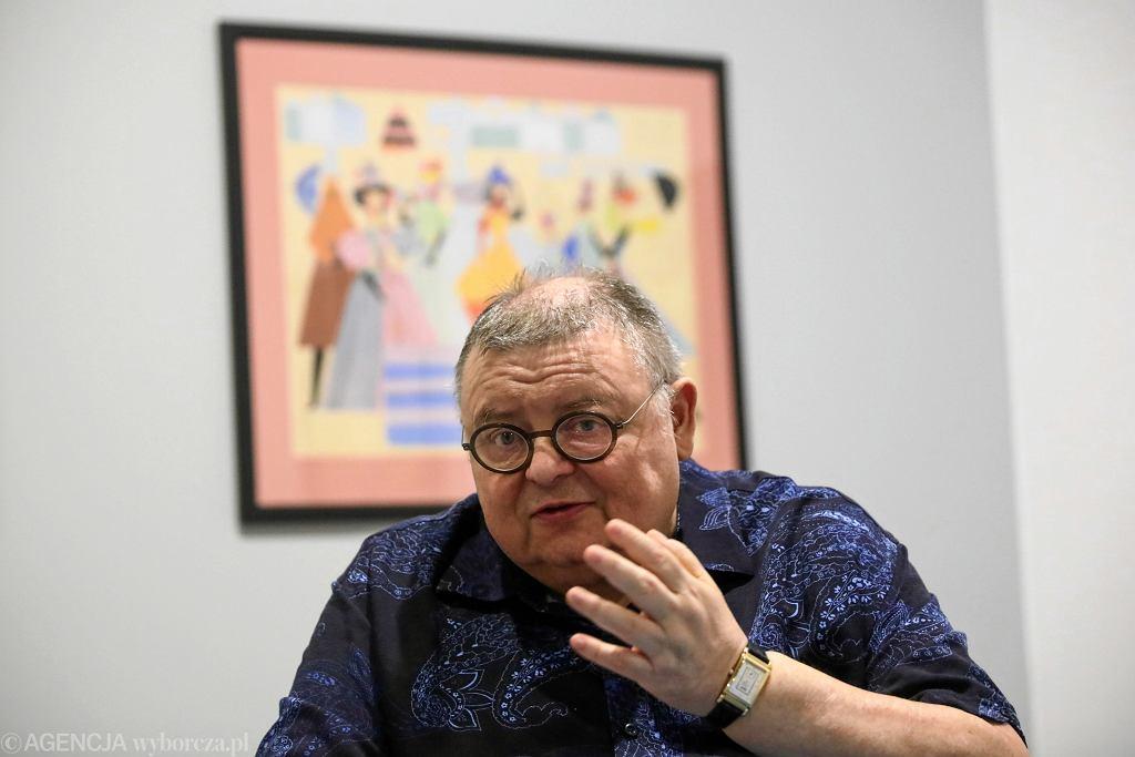14.06.2019 Kraków , Muzeum Etnograficzne . Wojciech Mann podczas spotkania na temat wystawy swojego ojca Kazimierza Manna.