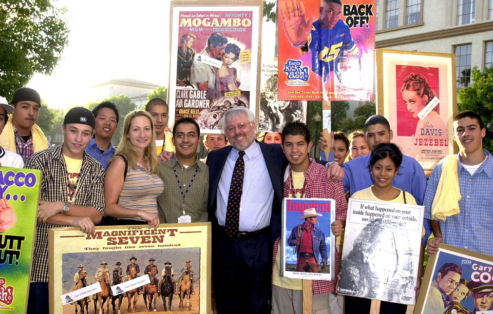 Kampania antytytoniowa, pośrodku Jeffrey S.Wigand, Los Angeles.
