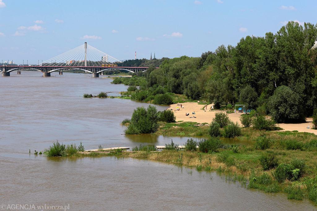 Podwyższony stan wody na Wiśle w Warszawie w 2018 roku