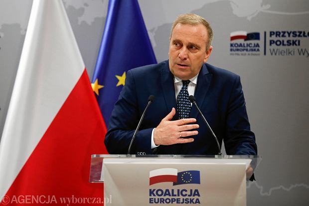 Grzegorz Schetyna podczas Konwencji Koalicji  Europejskiej, Kraków 19.05.2019.