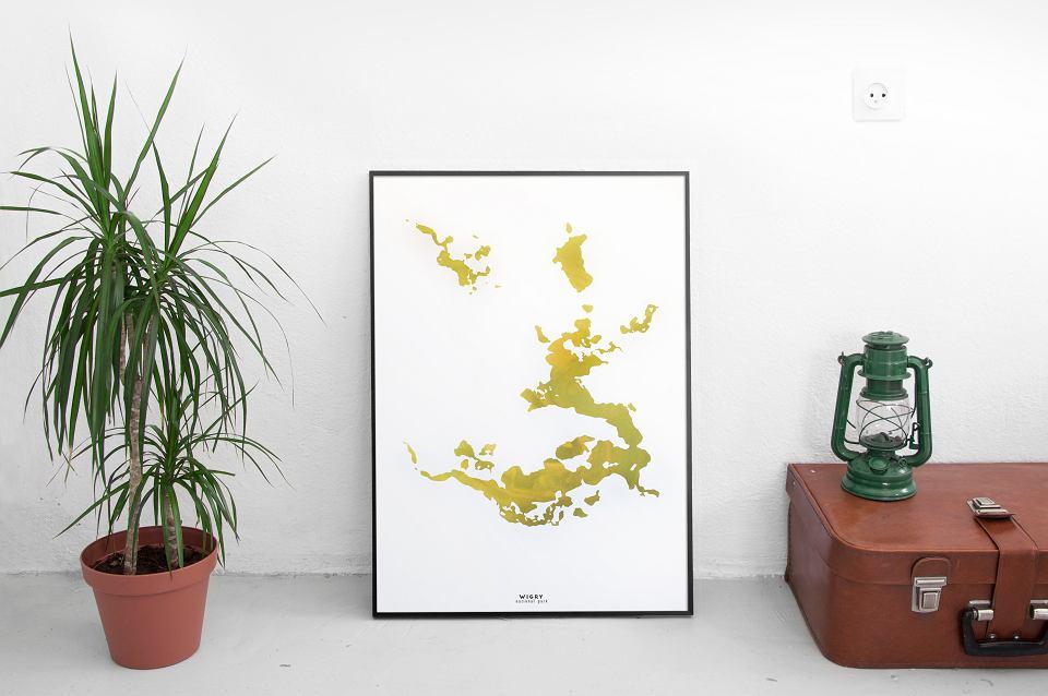 Plakat 'Wigry' z kolekcji plakatów Aqua Posters, Studio Warto