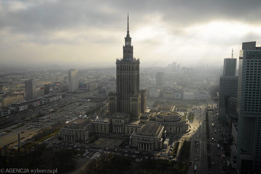 Widok na Pałac Kultury w Warszawie