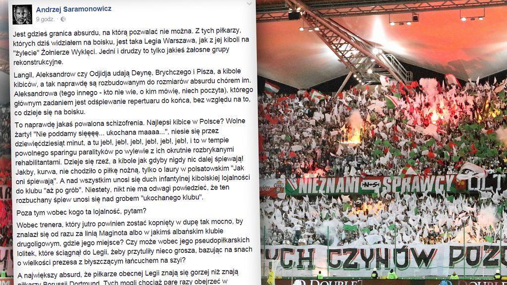 Środowy mecz Legia Warszawa i Borussią Dortmund.