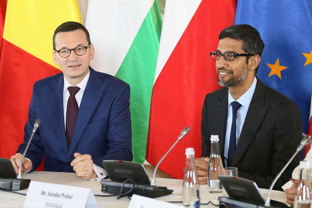 CEO Google Sundar Pichai w Warszawie (2019 r.)