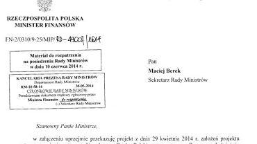 Fragment dokumentu z 28 maja 2014 roku