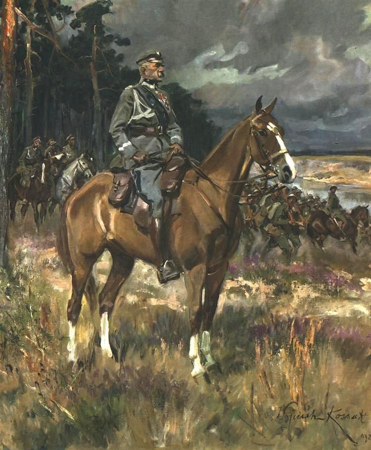 Wojciech Kossak, Józef Piłsudski na Kasztance, 1928