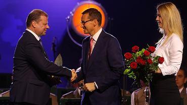 Forum Ekonomiczne w Krynicy. Premier Litwy Saulius Skvernelis z premierem Mateuszem Morawieckim