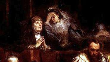 Halszka z Ostroga i jej matka Beata. Fragment obrazu Jana Matejki 'Kazanie Skargi'