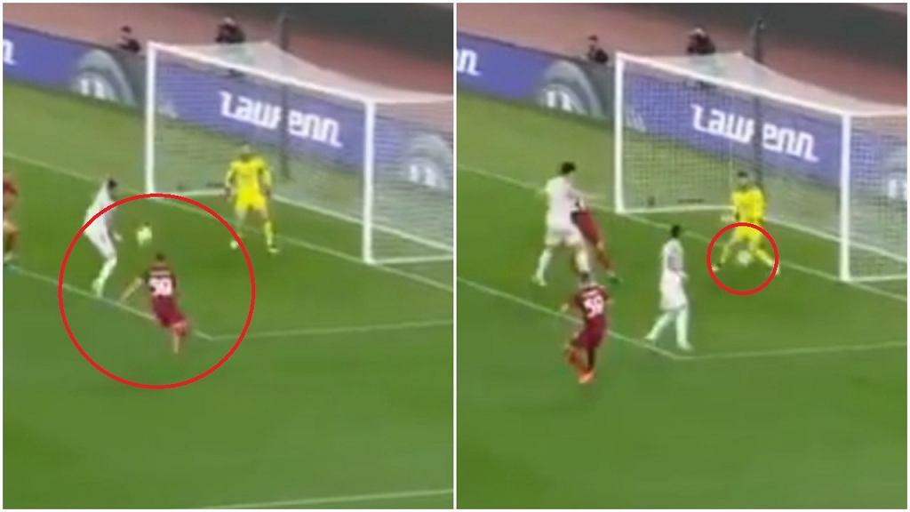 Nicola Zalewski z golem w meczu przeciwko Manchesterowi United w półfinale Ligi Europy