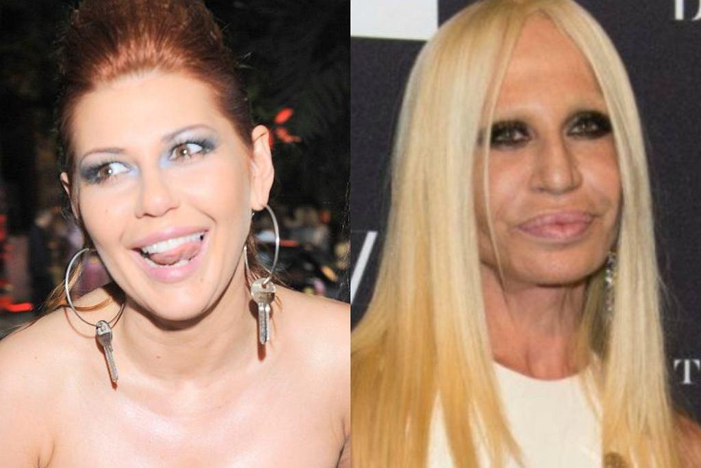 Iwona Węgrowska i Donatella Versace