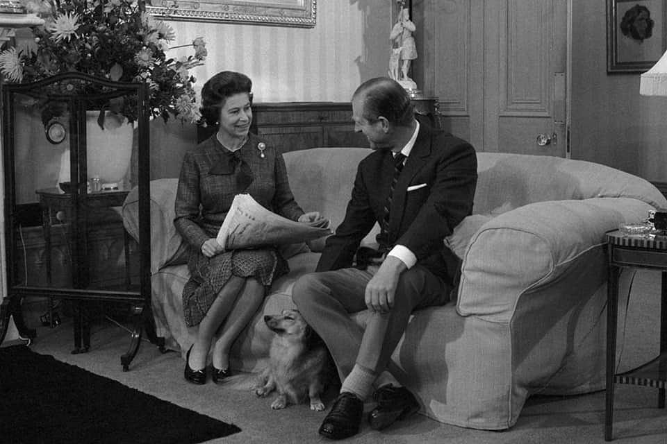 Książę Filip i królowa Elżbieta w młodości