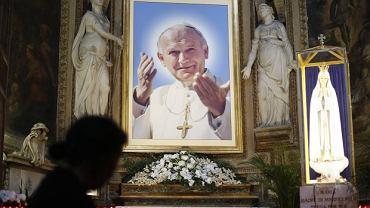 Obraz z podobizną Jana Pawła II w jednym z kościołów w Rzymie