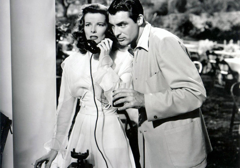 Cary Grant i Katharine Hepburn w filmie 'Philadelphia Story' (fot. domena publiczna)