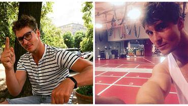 Przystojny Mikołaj Roznerski ostro ćwiczy na siłowni, ale właście zaczął inne treningi