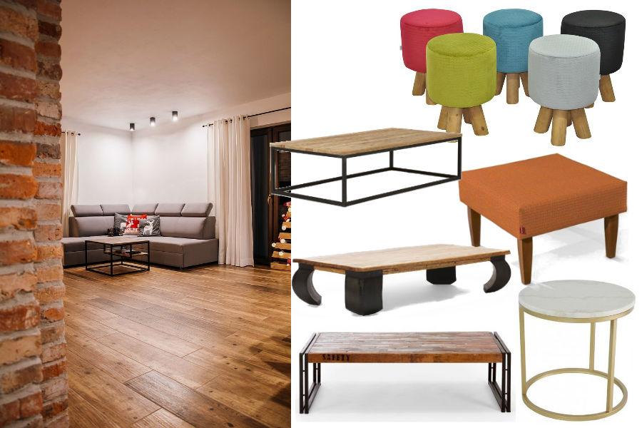 Najpiękniejsze ławy i stoliki do salonu - inspiracje