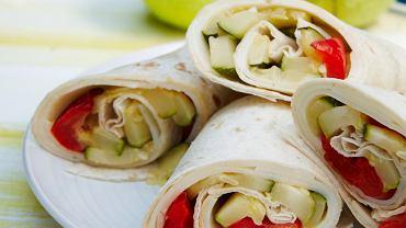 Wrap z grillowanymi warzywami i serami