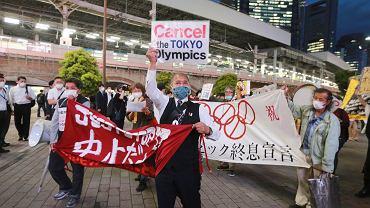 Protest przeciwko igrzyskom w Tokio, 17 maja 2021 r.