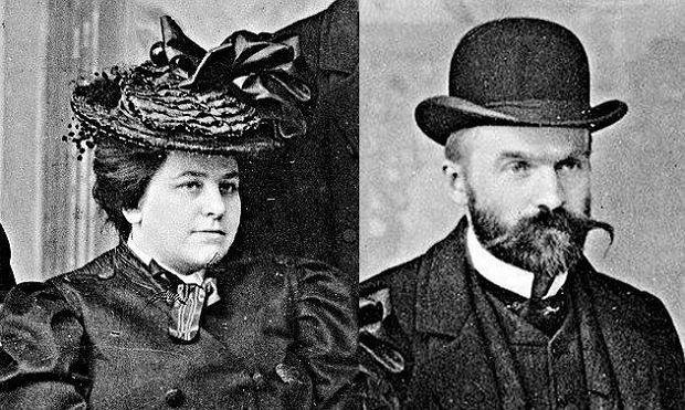 Maria Juszkiewiczowa i Józef Piłsudski na zdjęciu wykonanym w 1904 r. w Bernie