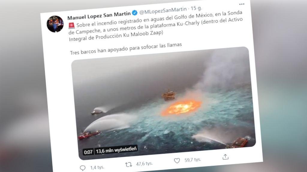 'Ogniste oko' w Zatoce Meksykańskiej
