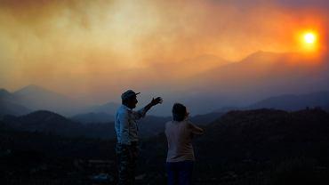 Cypr. Pożar lasu
