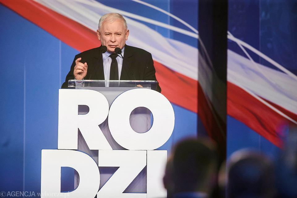 Prezes PiS Jarosław Kaczyński podczas konwencji swojej partii. Łódź, 11 września 2019