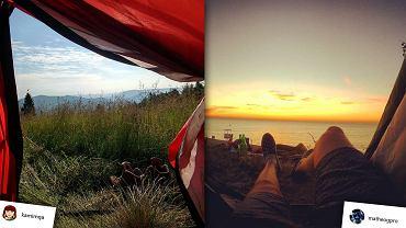 Widok z namiotu potrafi zachwycić.