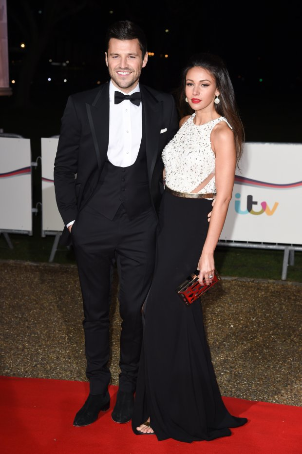 Mark Wright and Michelle Keegan arriving for the Sun Military Awards 2014 at the National Maritime Museum, Greenwich, London. 10/12/2014 Picture by: Steve Vas / Featureflash