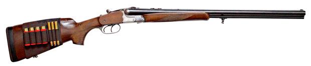 broń, mój pierwszy raz, Mój pierwszy raz - na strzelnicy za snajperem SEALs, Dryling w. petting - broń myśliwska o trzech lufach