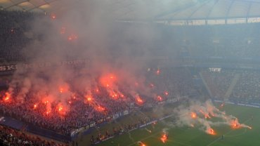 Trybuny Stadionu Narodowego podczas meczu Lech Poznań - Legia Warszawa w finale Pucharu Polski