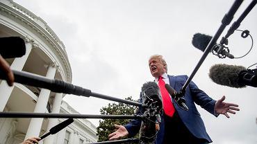 Donald Trump na spotkaniu prasowym przed Białym Domem, 3 października 2019 r.