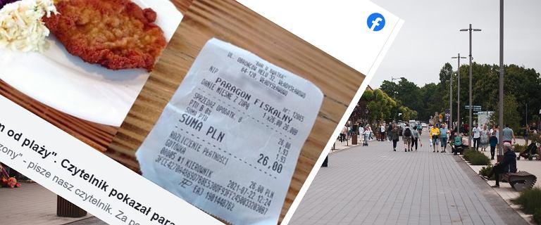 """Pokazali rachunki z restauracji nad polskim morzem.""""Paragon jest, tylko grozy brak"""""""