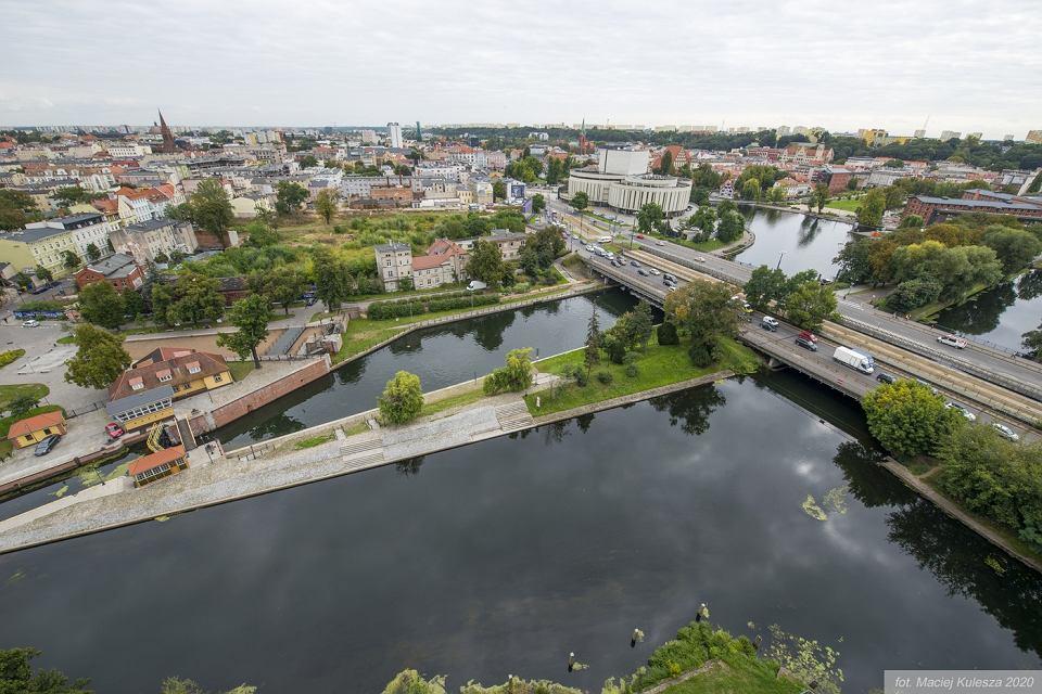 Widok na Bydgoszcz z Nordic Haven