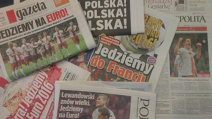 Przegląd okładek gazet po meczu Polska - Irlandia