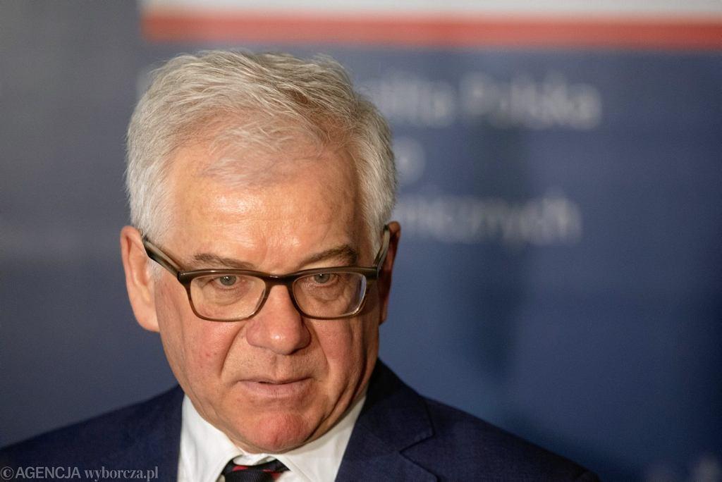 Debata na temat przyszłości Unii Europejskiej z udziałem ministra Jacka Czaputowicza, Warszawa 29.10.2018.
