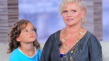 Katarzyna Figura z córką Koko