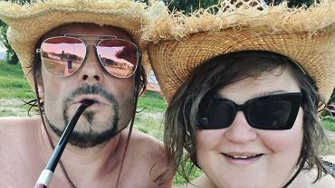 Dominika Gwit z mężem