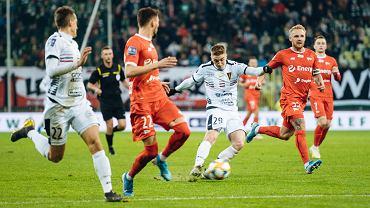 Lechia Gdańsk - Pogoń Szczecin 0:1. Pierwszy z prawej Daniel Łukasik