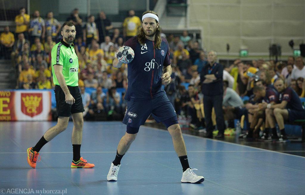 Mikkel Hansen podczas meczu PGE Vive Kielce - PSG